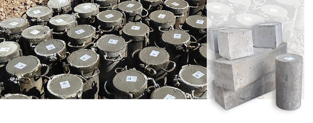 Ensayos de hormigón (fabricación y conservación de probetas)